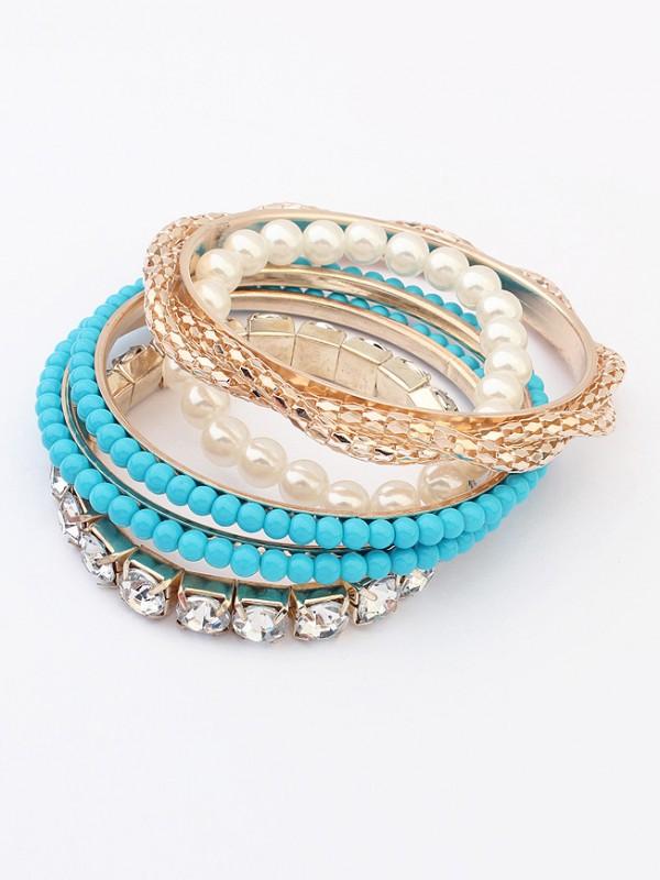 Occidente Beaded Exquisite Multi-layered Perle vendita calda Bracciali