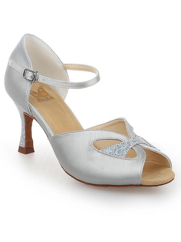 Donna Peep Toe Con Buckle Raso tacco a spillo Scarpe da ballo