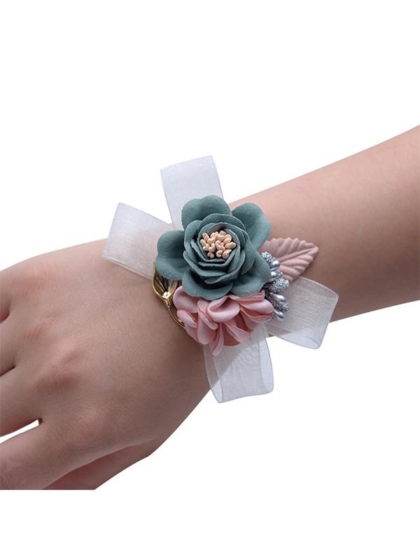 Low-key Hand-tied Cloth Wrist Corsage
