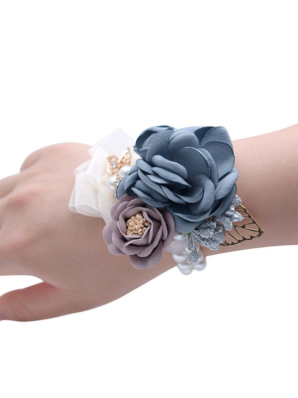Fashion Hand-tied Cloth Wrist Corsage