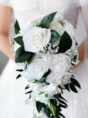 Elegante Cascata Silk Flower nuzialemazzi