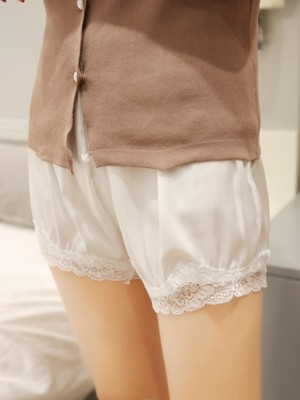 Fashion Women's Poliestere Fiber Pizzo Safety Pantaloni/Safety Cortos