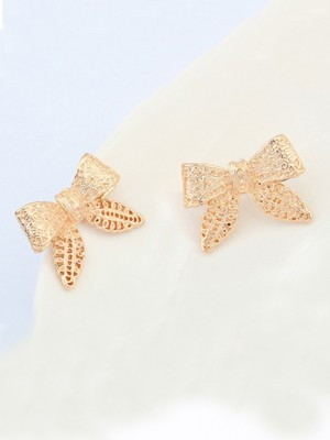 Occidente Cartoon Fiocco Metallic Stud vendita calda Orecchini