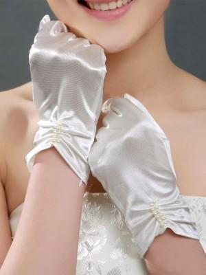 Fancy Cloth Con Pearl Sposa Guanti