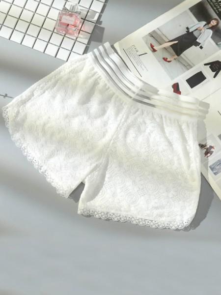 Taglia grossa Women's Pizzo Elastic Safety Pantaloni/Safety Cortos