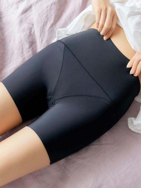 Morbido Women's Nylon High Waist Elastic Safety Pantaloni/Safety Cortos