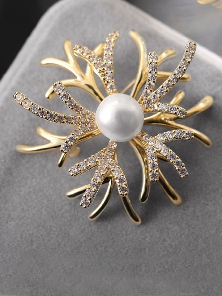 Bellissimo Rame With Strass Le signore' Spilla