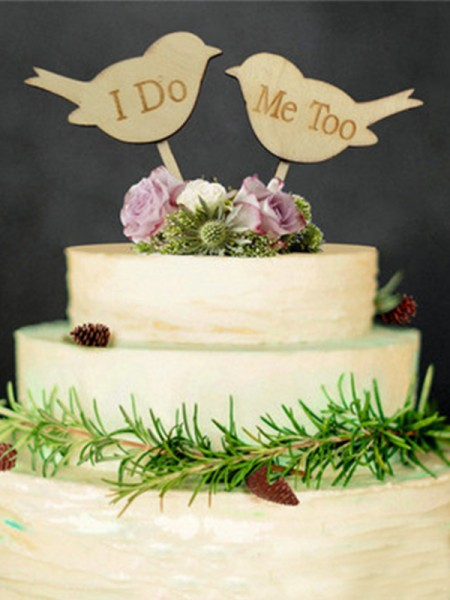 Bello Wooden Cake Topper(I Do and Me Too)