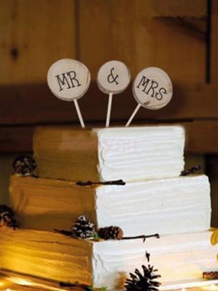 Bello Wooden Cake Topper