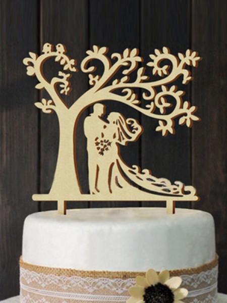 Sbalorditivo Wooden Cake Topper