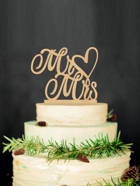 Unico Wooden Cake Topper