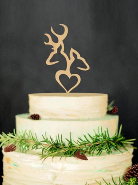 Taglioe Wooden Cake Topper