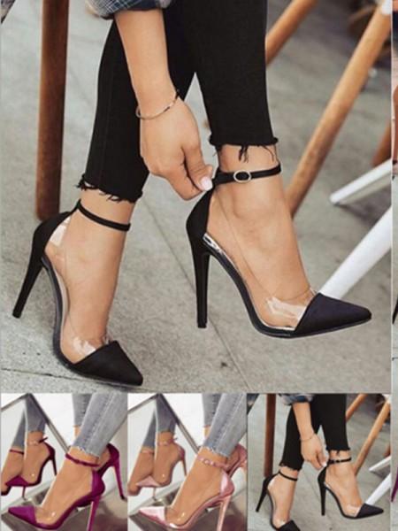Women's PU Stiletto Heel Closed Toe Tacchi alti