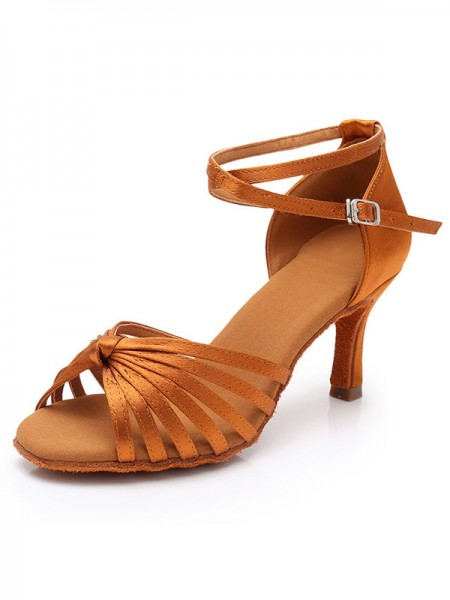 Women's Silk Stiletto Heel Peep Toe sandali