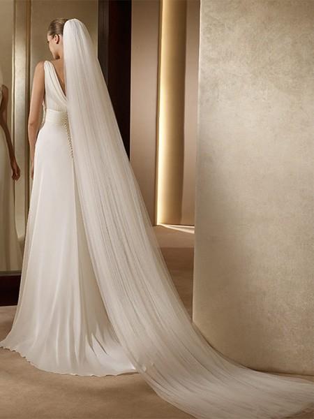 Gorgeous 2 Layer Tulle Long Wedding Veils