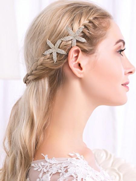Bello Lega Con Strass Hairpins(2 Pezzi)