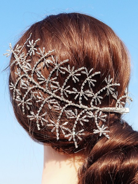 Luxurious Lega Con Strass Hairpins