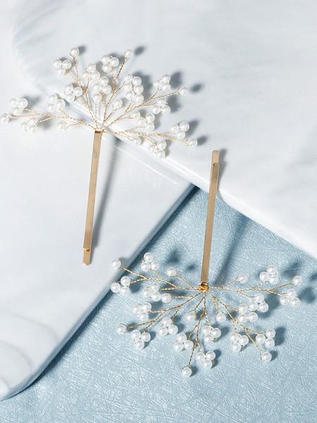 Elegante Lega Con Imitation Perla Hairpins(2 Pezzi)