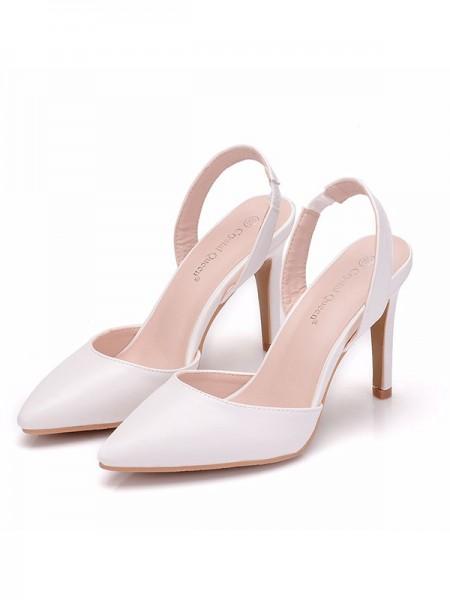 Da donna PU Closed Toe Stiletto Molto sandali