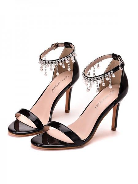 Da donna PU Peep Toe Stiletto Molto sandali