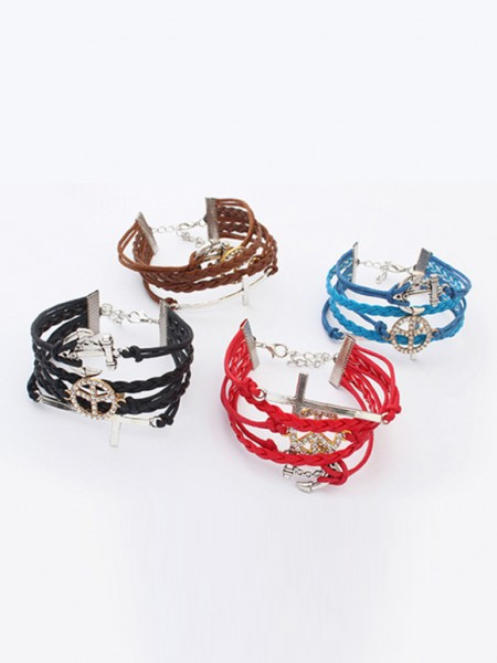 Occidente Retro Anchor Cruciate woven vendita calda Bracciali