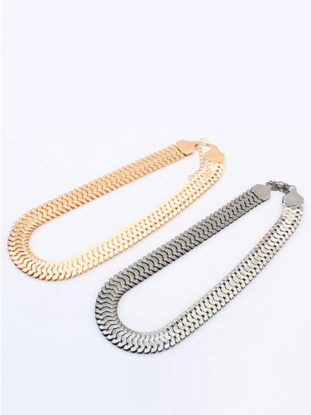 Occidente Personality Metallic thick chains Corto vendita calda Collana