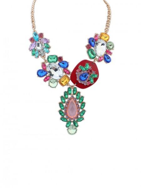 Occidente Bellissima Multicolor Di moda vendita calda Collana