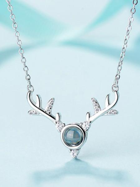 Elegante S925 Silver With Antler Collane