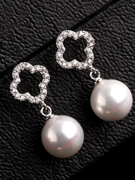 Pretty Copper With Zircon Hot Sale Earrings For Women