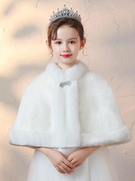 Fancy Faux Fur Con Strass avvolgeres