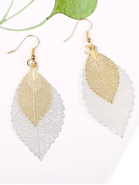 Vintage Copper With Leaf Hot Sale Orecchini For Women