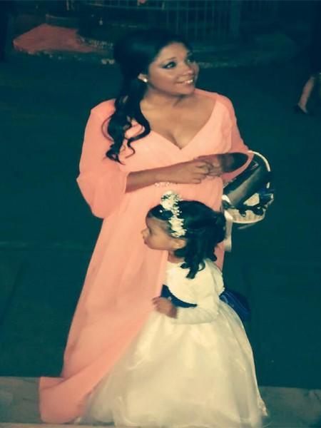 Principessa Scollatura a V Perline Senza maniche Al pavimento Chiffona Abiti Mamma Sposa