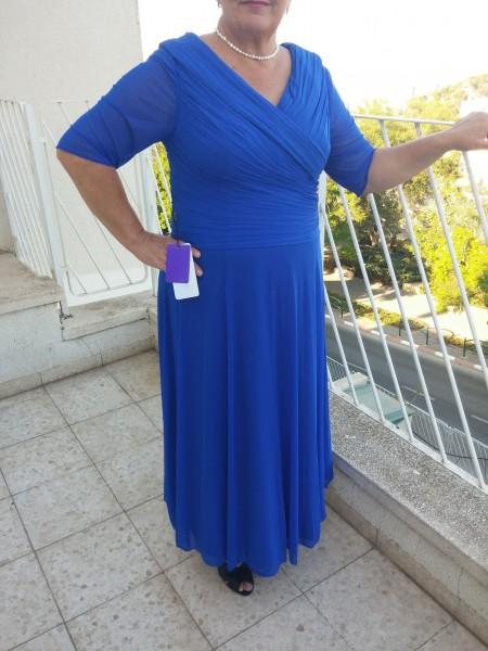 Principessa Scollatura a V Increspato Alle caviglie Mezze maniche Chiffona Abiti Mamma Sposa