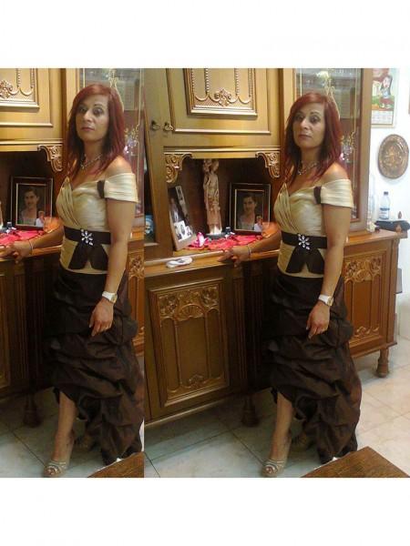 Tubino Spalle scoperte Sciarpa/Nastro/Cintura Raso Asimmetrico Abiti Mamma Sposa