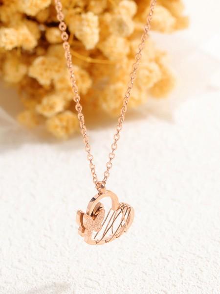 Fashion Titanium Con Butterfly/Heart Collane