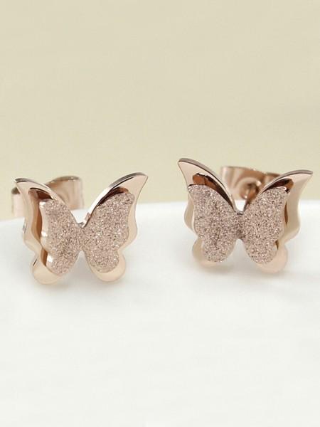 Charming Titanium Con Butterfly Orecchini