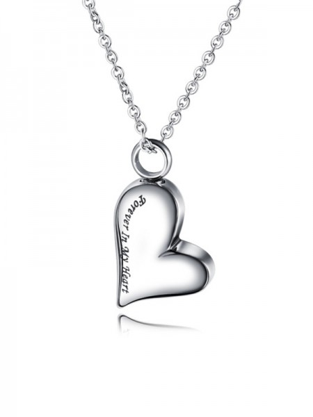 Chic Titanium With Love Collane For Ladies