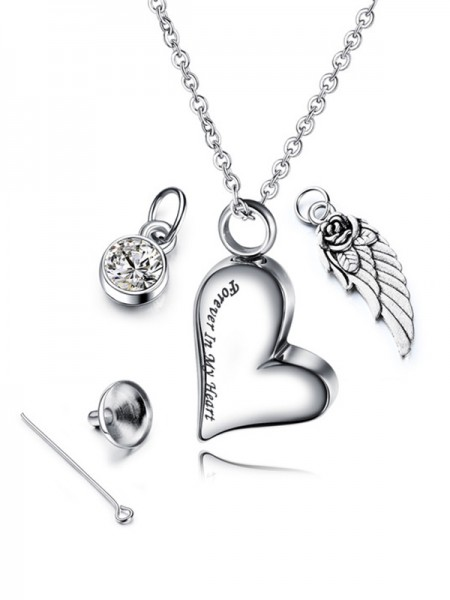 Attraente Titanium With Love Hot Sale Collane