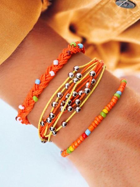 Moda Lega con Metal Beads Vendita calda Bracciali(3 Pieces)