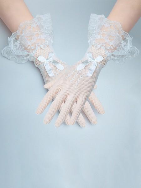 Elegant Pizzo Fiocco Sposa Guanti