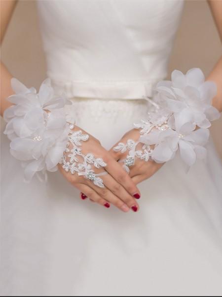 Romantic Tyll Fiori Sposa Guanti