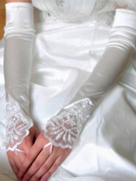 Bellissimo Cloth Applique Sposa Guanti