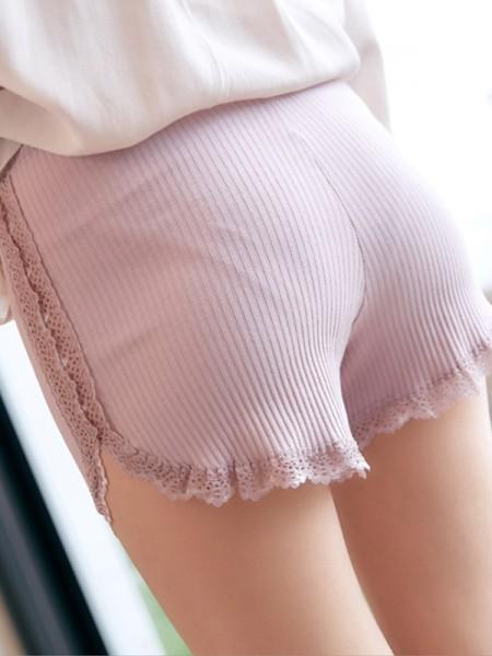 Fashion Women's Cotton Pizzo Seamless Safety Pantaloni/Safety Cortos