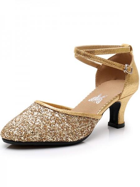 Women's Sparkling Glitter Cone Heel Closed Toe sandali