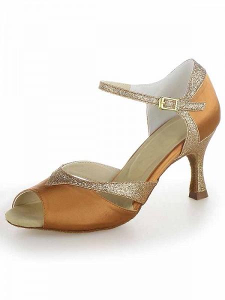 Donna Raso Peep Toe tacco a spillo Sparkling Glitter Scarpe da ballo