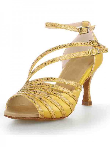 Donna Peep Toe tacco a spillo Raso Sparkling Glitter Scarpe da ballo