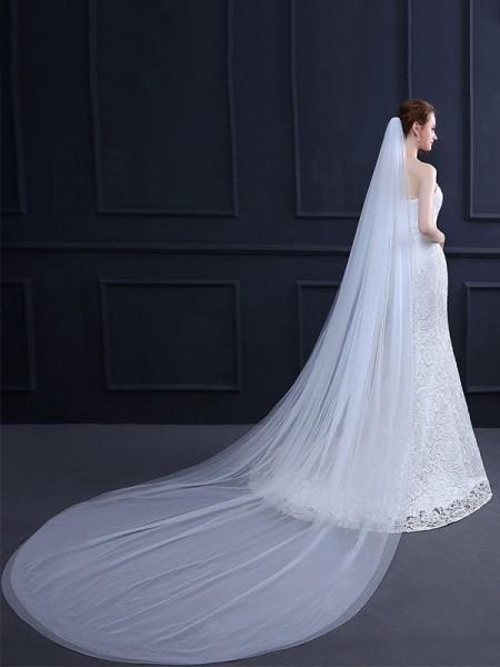 Brilliant 2 Layer Tulle Long Wedding Veils