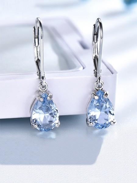 Charming Gemstone With S925 Silver Orecchini For Women