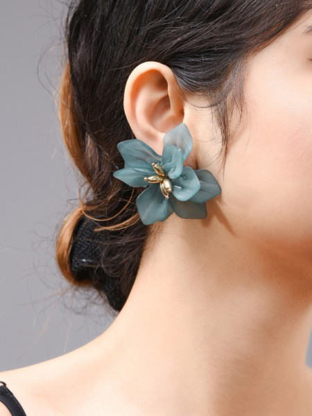 Fashion Acrylic With Flowers Orecchini For Women