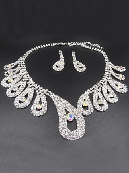 Luxurious Lega With Strass Wedding Bridal Gioielli Set